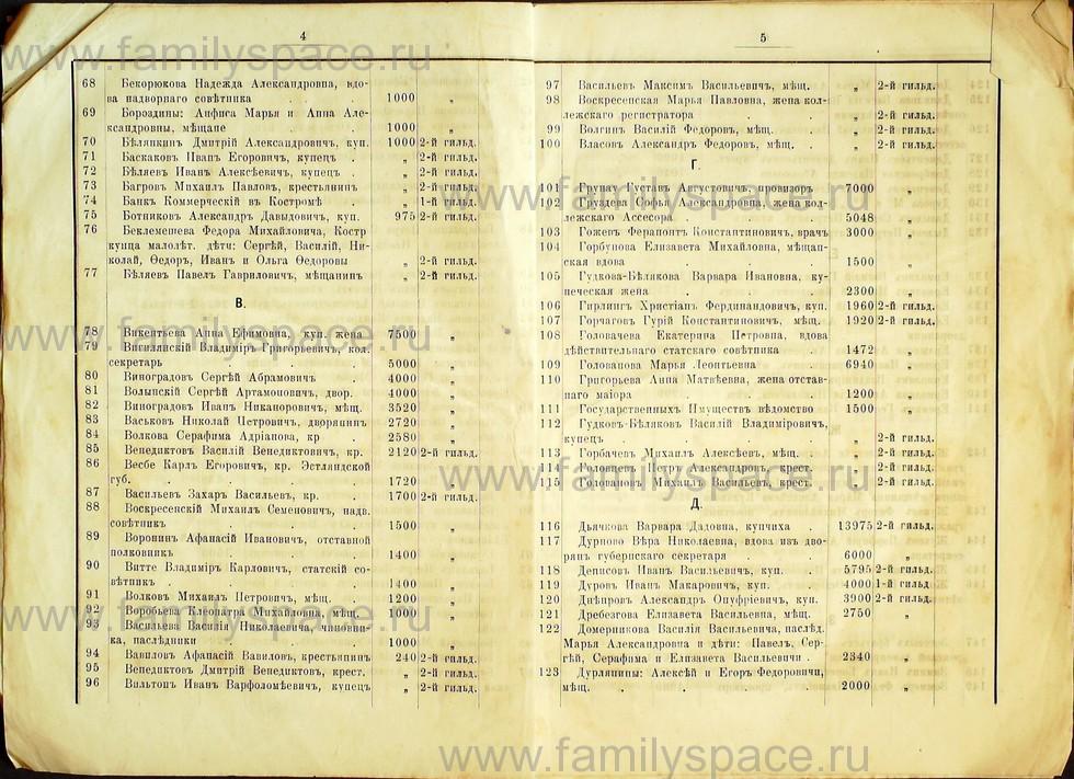 Поиск по фамилии - Список лиц, занимающих квартиры в домах частных владельцев г. Кострома 1895 г, страница 13