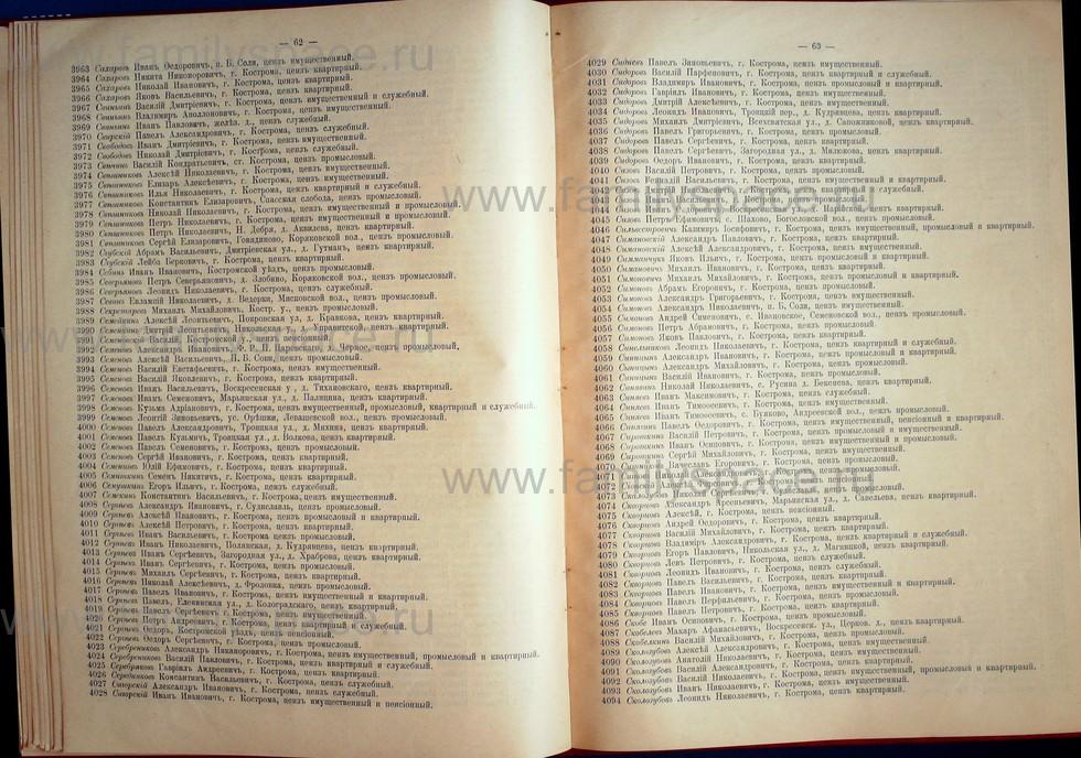 Поиск по фамилии - Список лиц, имеющих право участия на съезде городских избирателей по Костромскому уезду 1906г, страница 32
