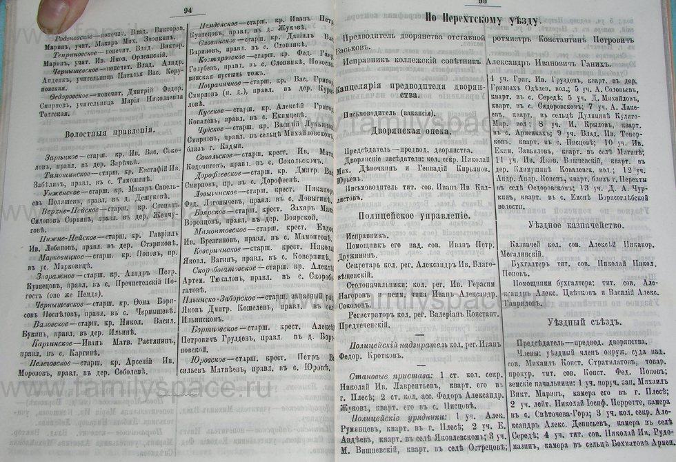 Поиск по фамилии - Костромской календарь на 1895 г. , страница 48