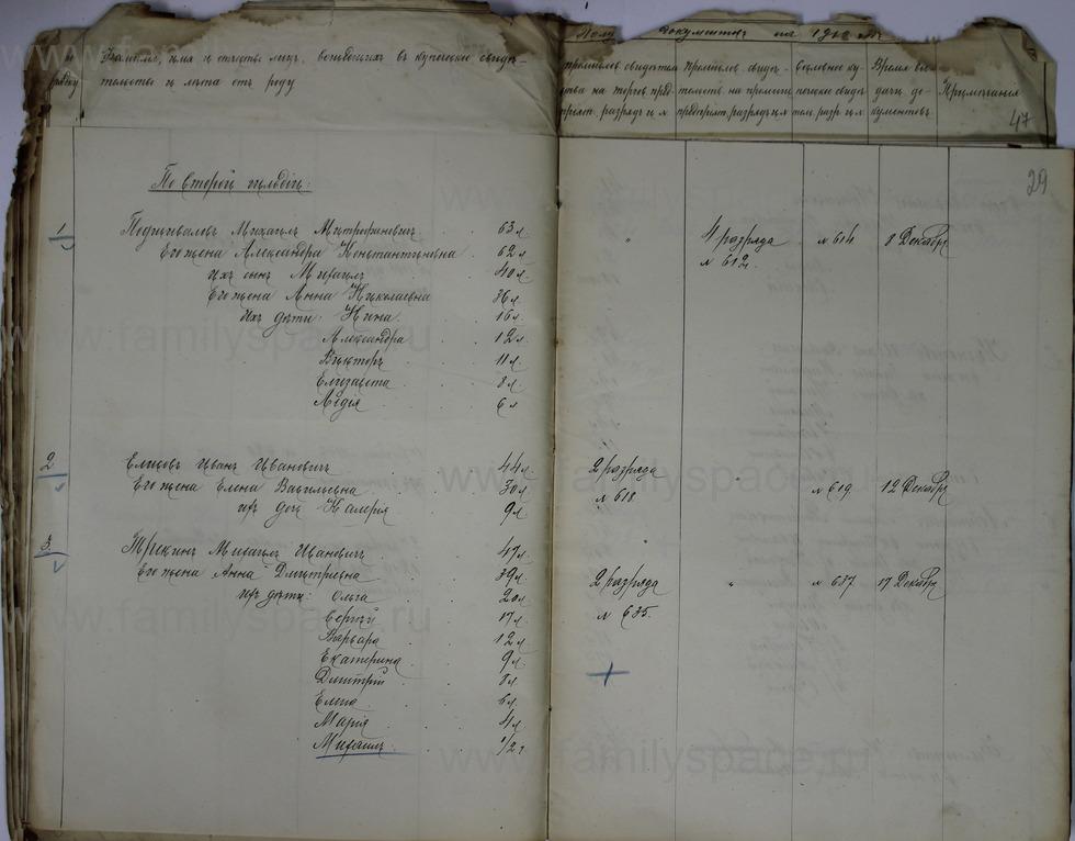 Поиск по фамилии - Ведомости о числе и составе купеческих семей г. Кострома и г. Кинешма, страница 29