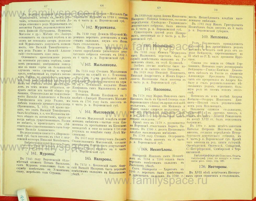 Поиск по фамилии - Статьи по генеалогии и истории дворянства, 1898, страница 1067