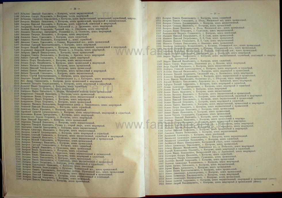 Поиск по фамилии - Список лиц, имеющих право участия на съезде городских избирателей по Костромскому уезду 1906г, страница 13