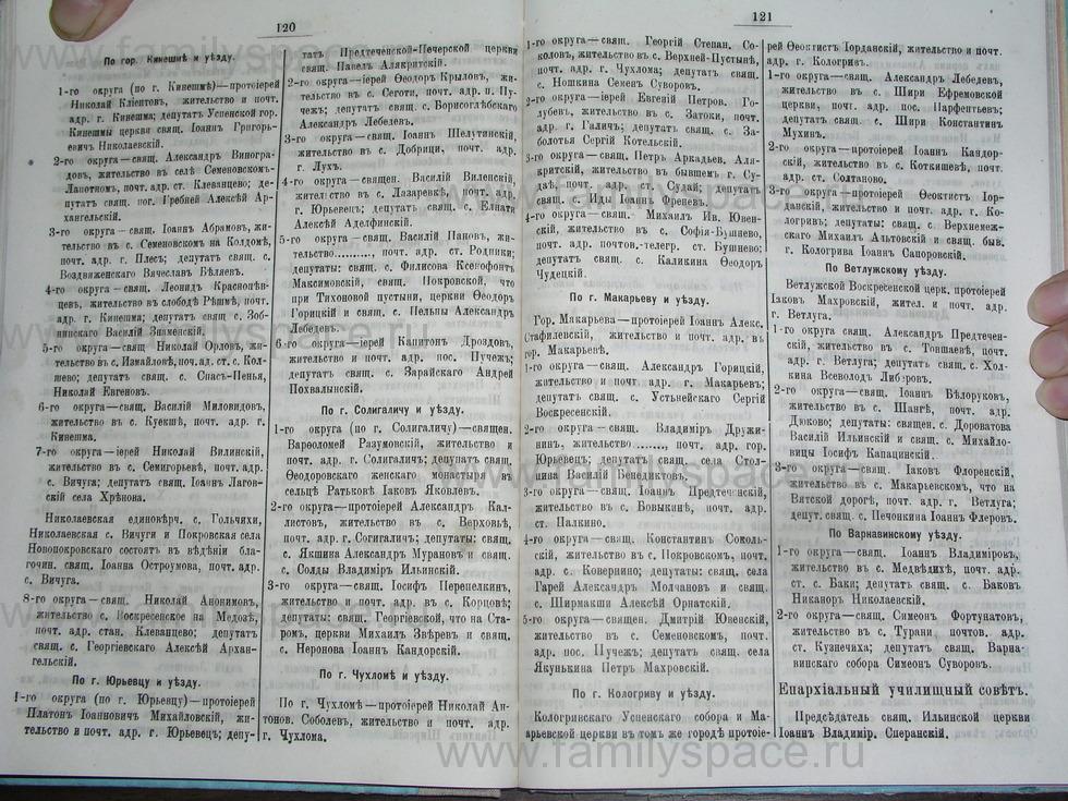 Поиск по фамилии - Костромской календарь на 1895 г. , страница 61