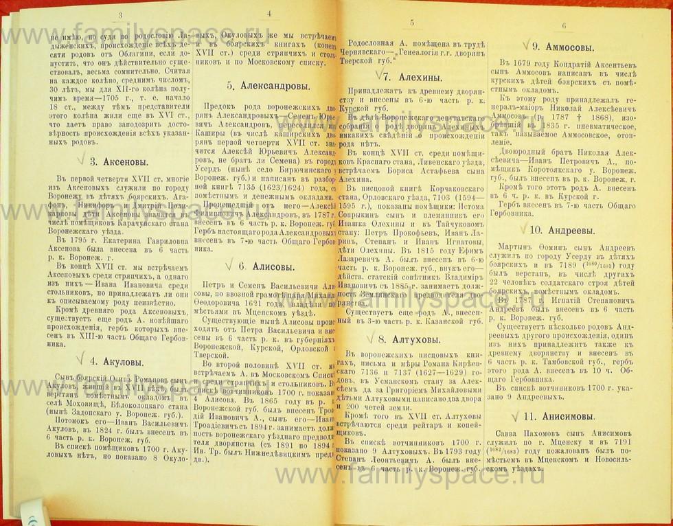 Поиск по фамилии - Статьи по генеалогии и истории дворянства, 1898, страница 1003