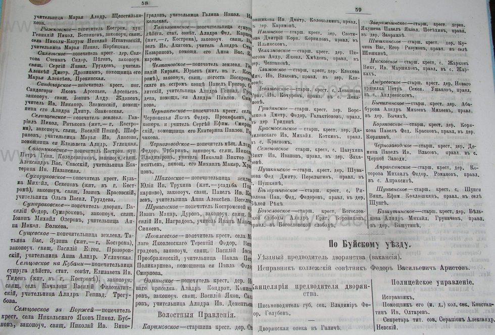 Поиск по фамилии - Костромской календарь на 1895 г. , страница 30