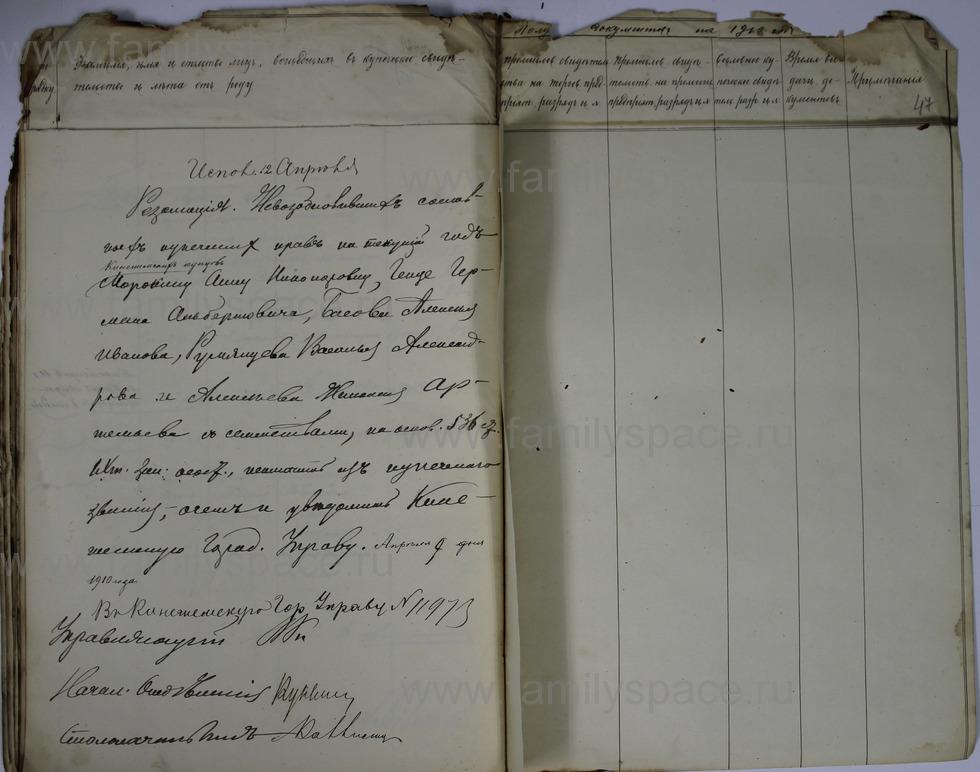 Поиск по фамилии - Ведомости о числе и составе купеческих семей г. Кострома и г. Кинешма, страница 47