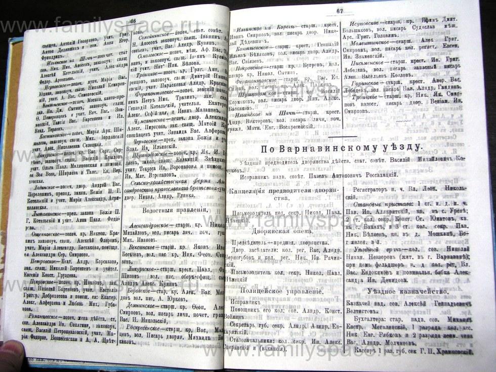 Поиск по фамилии - Костромской календарь на 1907 г. , страница 34