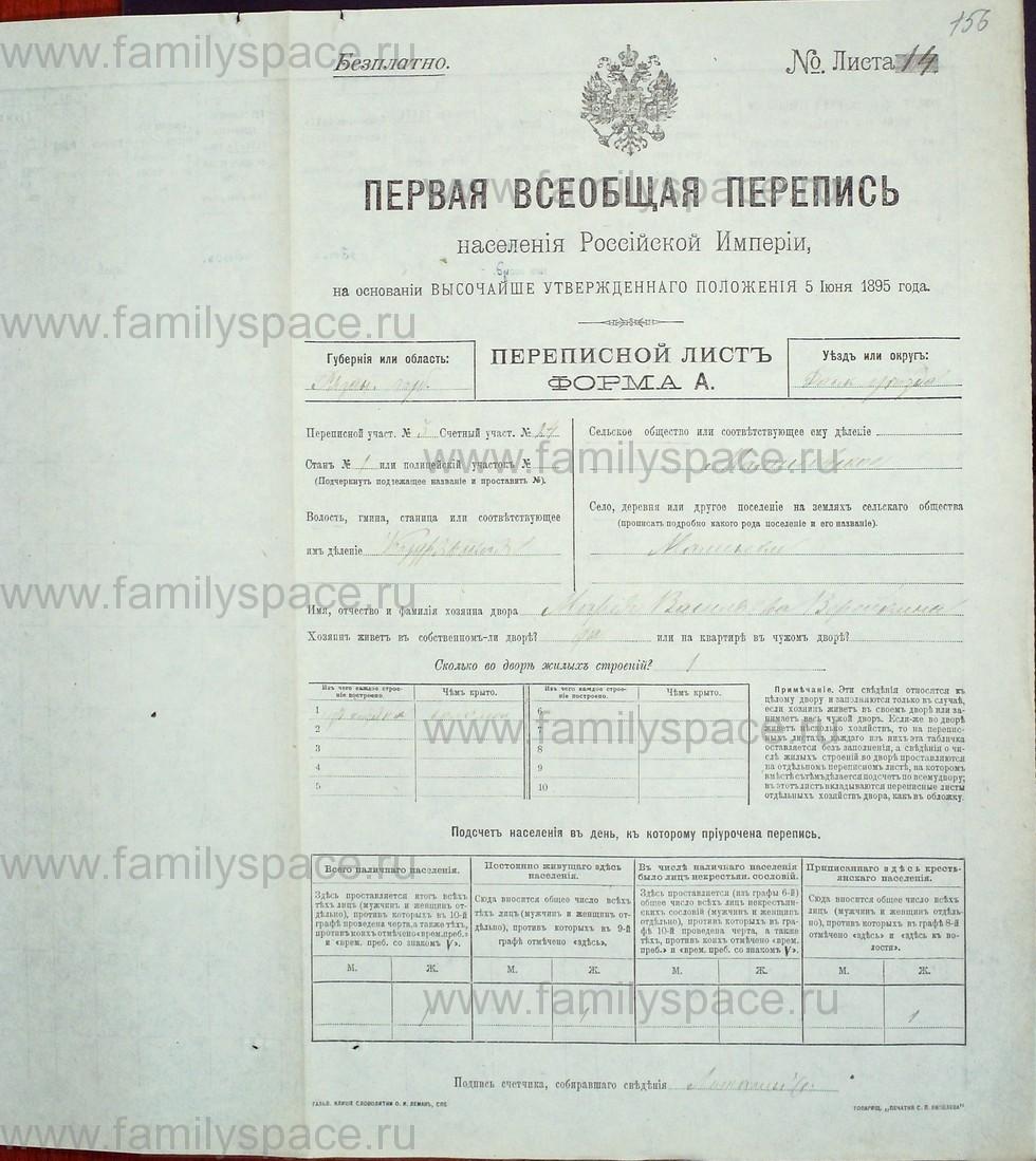 Поиск по фамилии - Первая всеобщая перепись населения Российской империи 1897 года, Рязанская губерния, Данковский уезд, страница 665