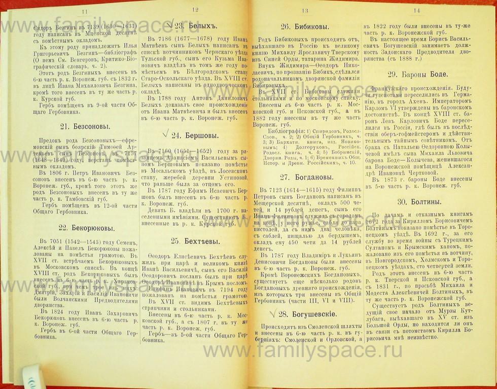 Поиск по фамилии - Статьи по генеалогии и истории дворянства, 1898, страница 1011