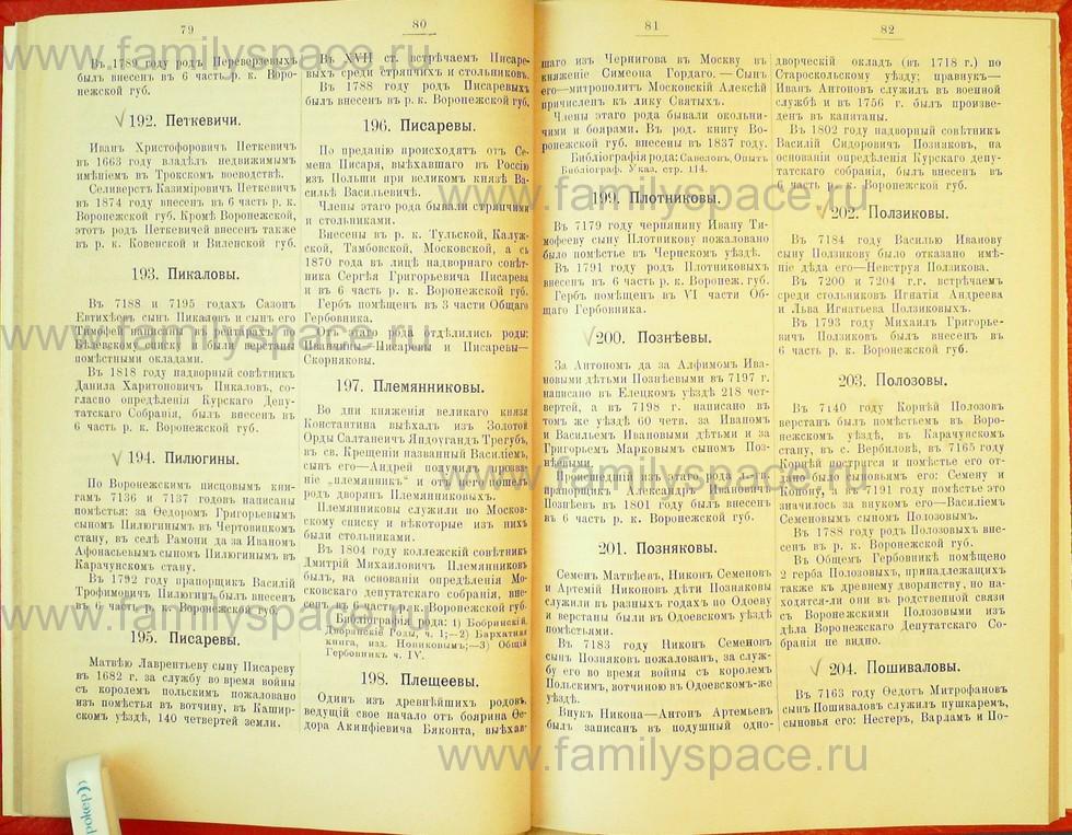 Поиск по фамилии - Статьи по генеалогии и истории дворянства, 1898, страница 1079
