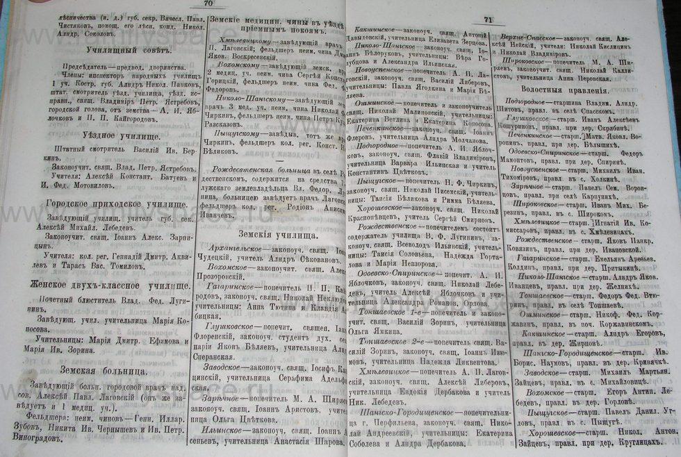 Поиск по фамилии - Костромской календарь на 1895 г. , страница 36