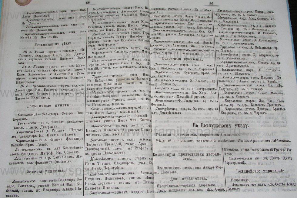 Поиск по фамилии - Костромской календарь на 1895 г. , страница 34