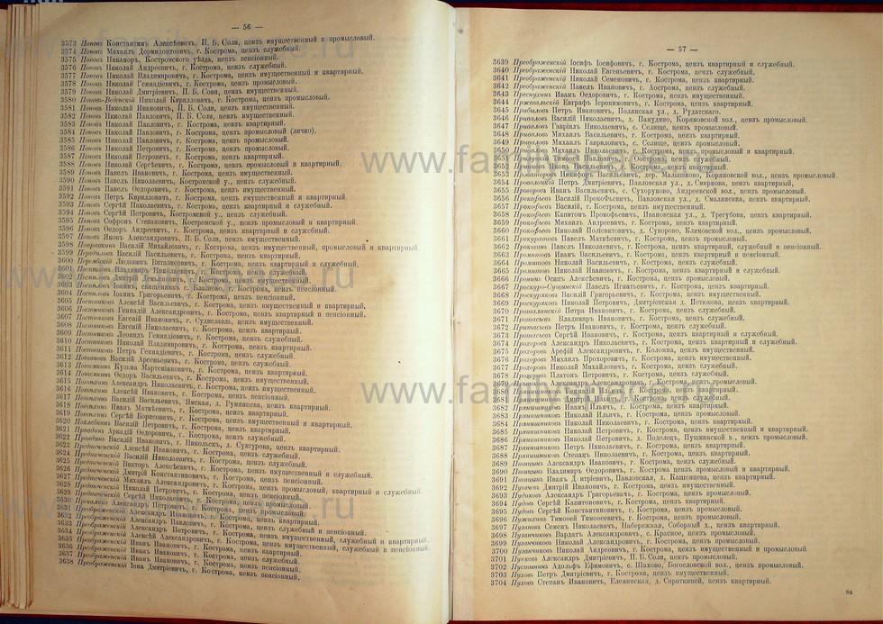 Поиск по фамилии - Список лиц, имеющих право участия на съезде городских избирателей по Костромскому уезду 1906г, страница 28