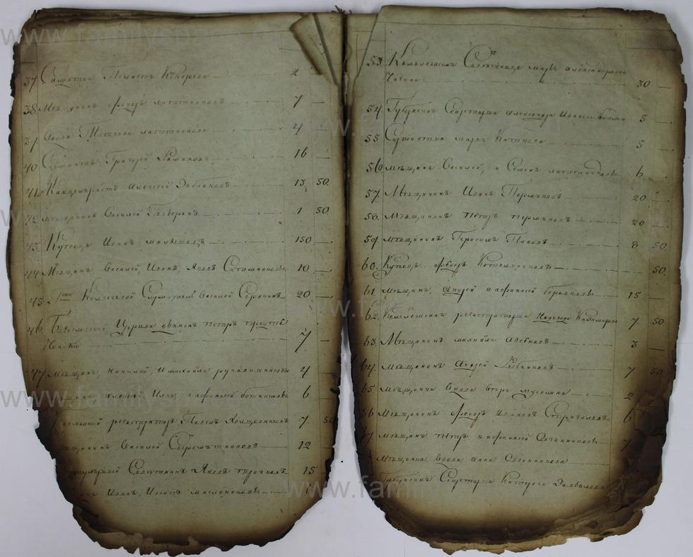 Поиск по фамилии - Списки недоимщиков г. Кострома., страница 30
