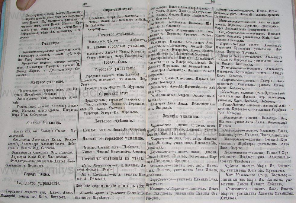 Поиск по фамилии - Костромской календарь на 1895 г. , страница 47