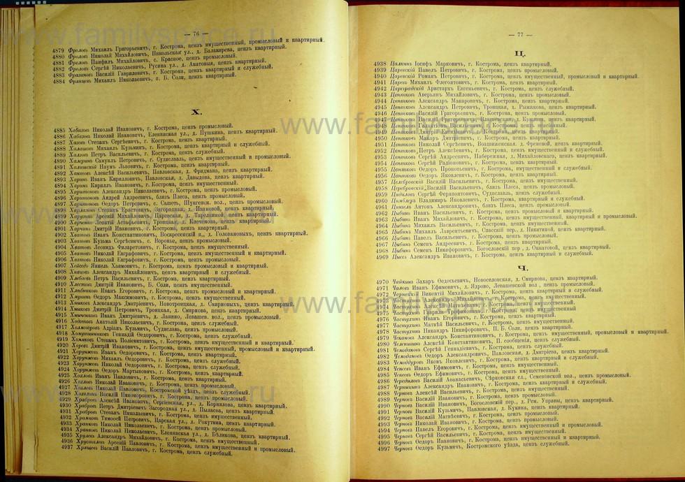 Поиск по фамилии - Список лиц, имеющих право участия на съезде городских избирателей по Костромскому уезду 1906г, страница 40