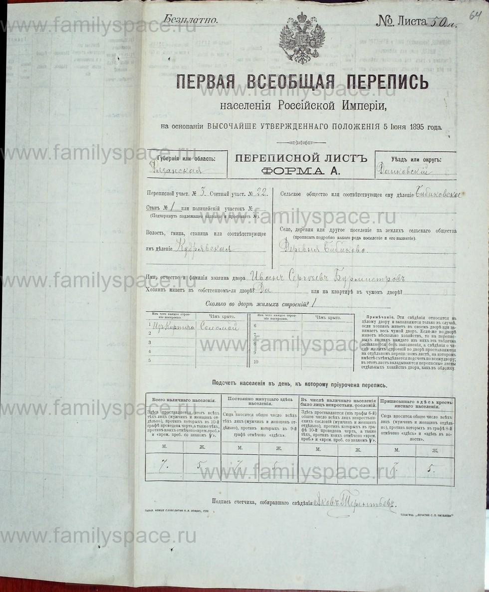 Поиск по фамилии - Первая всеобщая перепись населения Российской империи 1897 года, Рязанская губерния, Данковский уезд, страница 747
