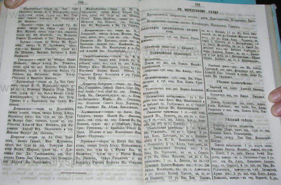 Поиск по фамилии - Костромской календарь на 1900 г. , страница 58