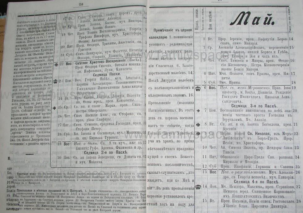 Поиск по фамилии - Костромской календарь на 1907 г. , страница 6