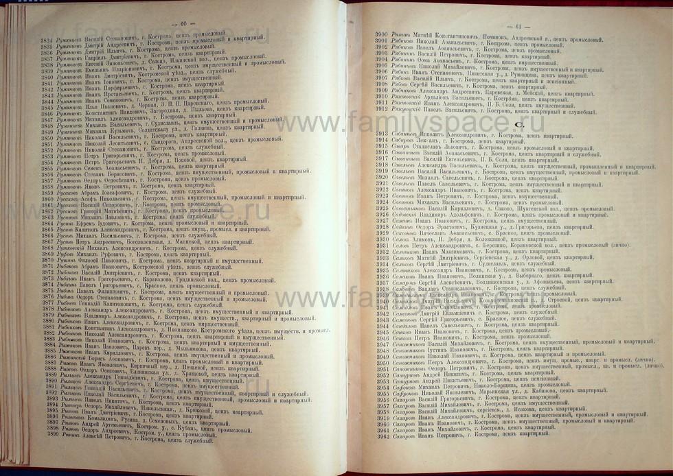 Поиск по фамилии - Список лиц, имеющих право участия на съезде городских избирателей по Костромскому уезду 1906г, страница 31
