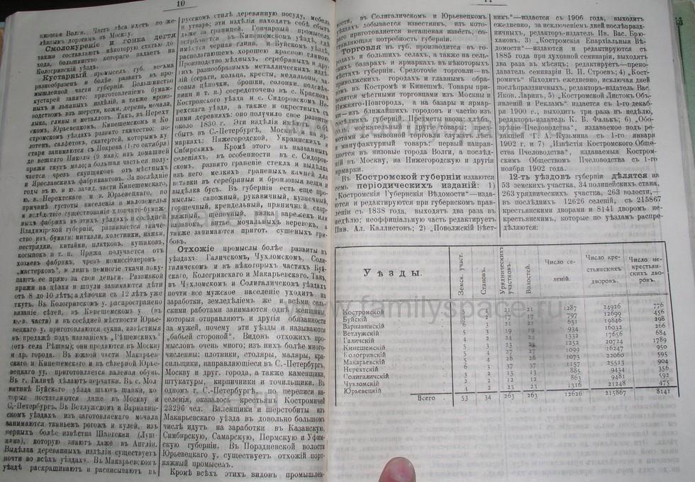 Поиск по фамилии - Костромской календарь на 1907 г. , страница 99