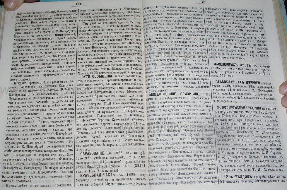 Поиск по фамилии - Костромской календарь на 1900 г. , страница 104