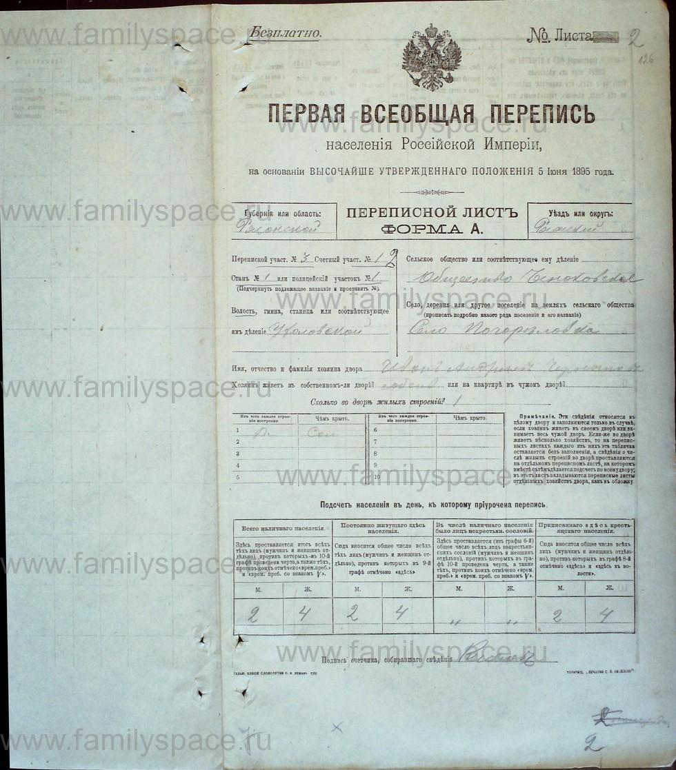Поиск по фамилии - Первая всеобщая перепись населения Российской империи 1897 года, Рязанская губерния, Ряжский уезд, страница 675