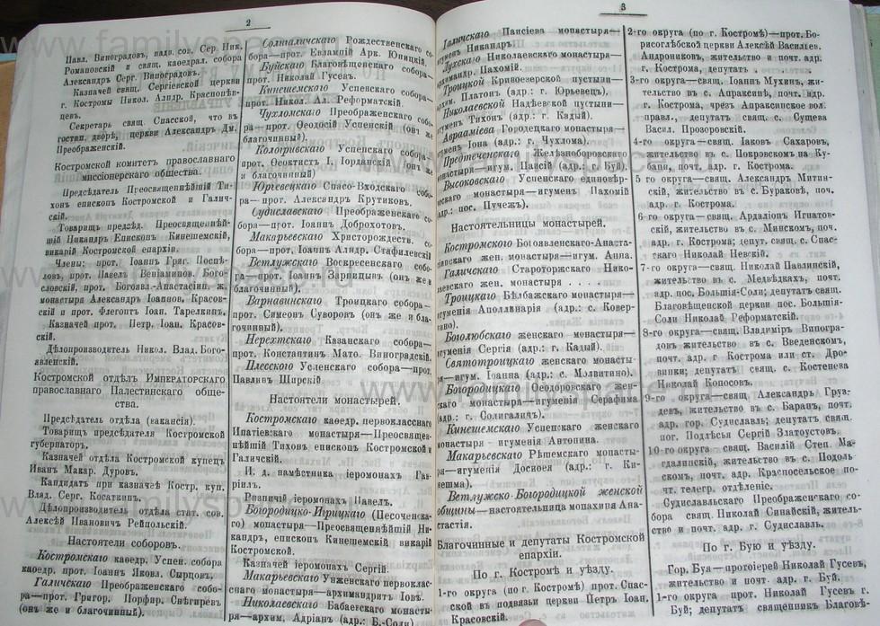 Поиск по фамилии - Костромской календарь на 1907 г. , страница 74