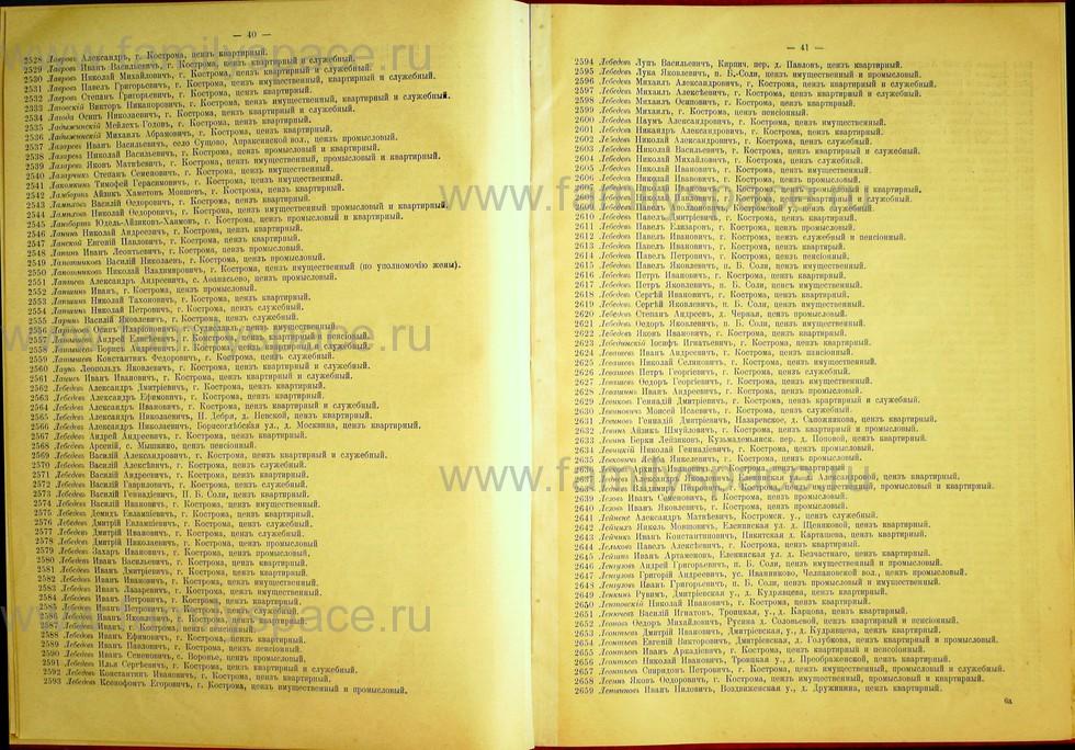 Поиск по фамилии - Список лиц, имеющих право участия на съезде городских избирателей по Костромскому уезду 1906г, страница 21
