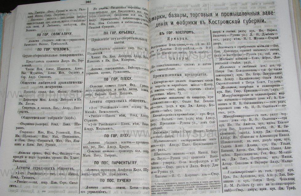 Поиск по фамилии - Костромской календарь на 1900 г. , страница 87