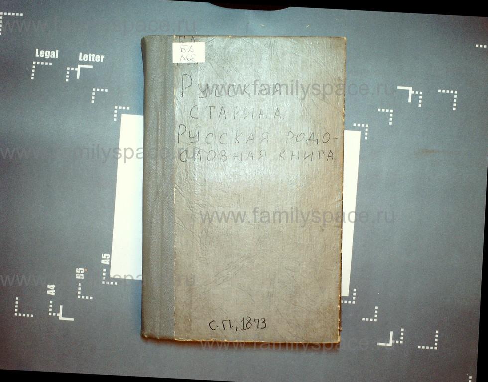 Поиск по фамилии - Русская родословная книга 1873, том 1, страница 1