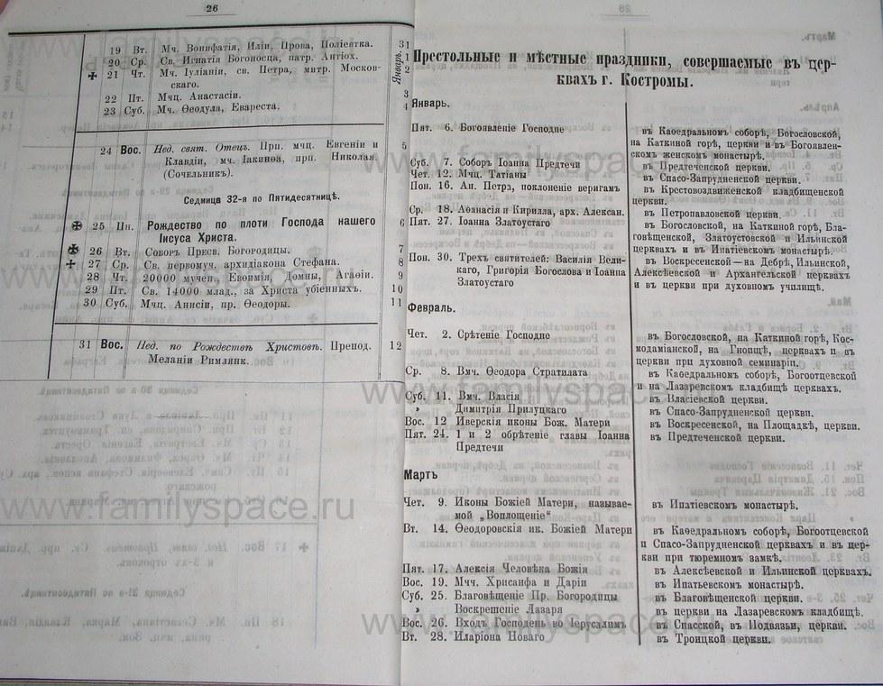 Поиск по фамилии - Костромской календарь на 1895 г. , страница 14