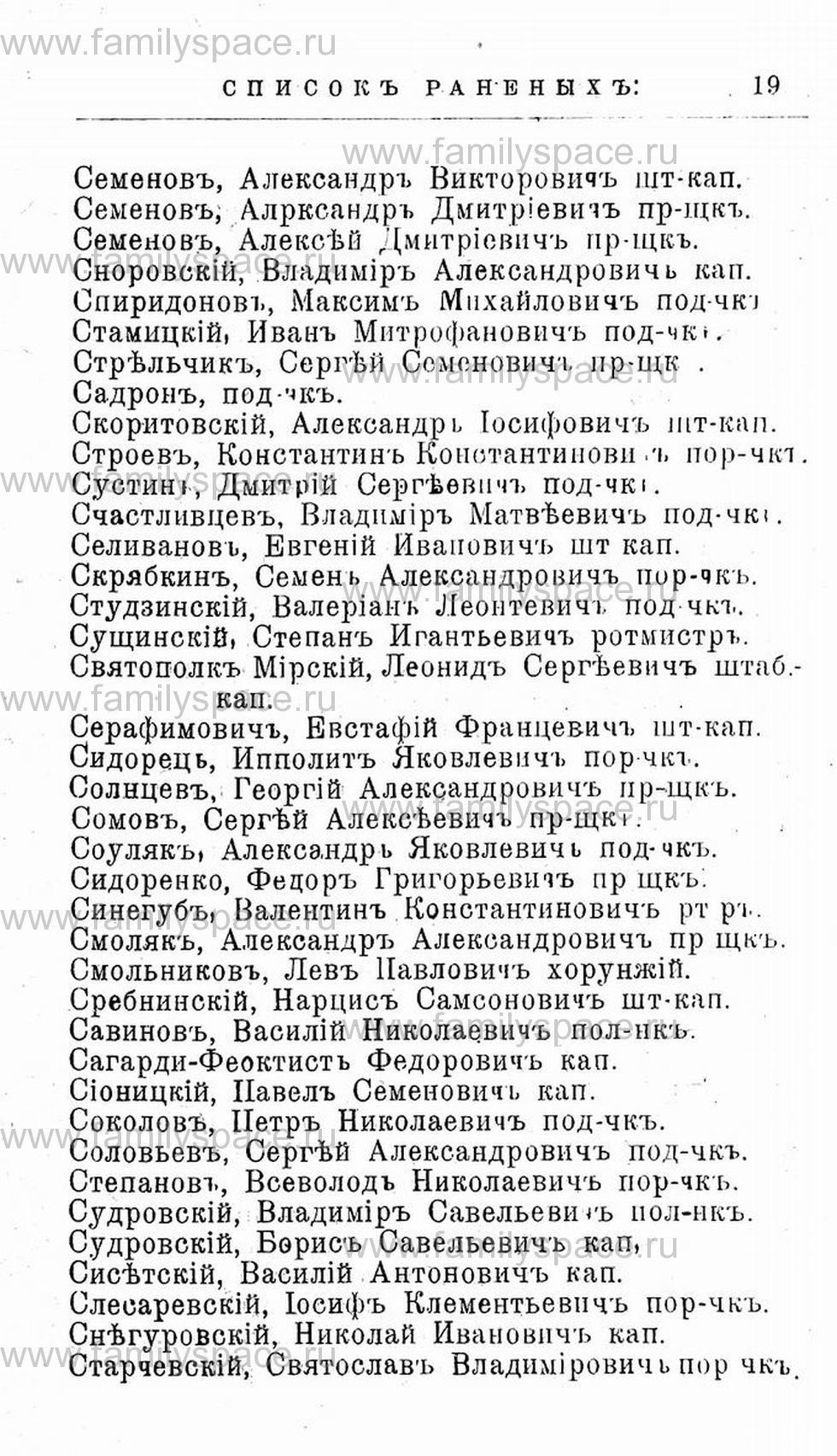 Поиск по фамилии - Первая мировая война - 1914 (списки убитых и раненых), страница 19