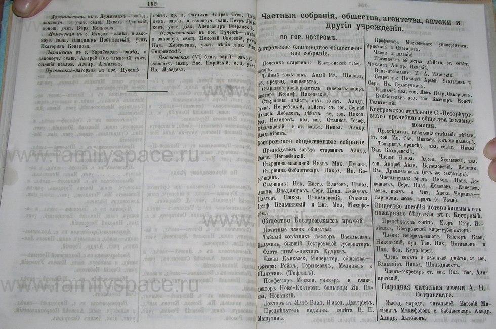 Поиск по фамилии - Костромской календарь на 1900 г. , страница 83