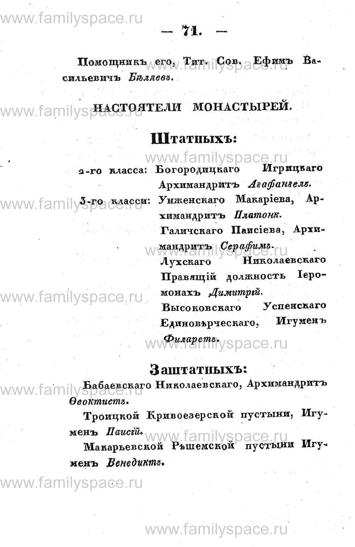 Поиск по фамилии - Памятная книжка Костромской губернии на 1853 год, страница 71