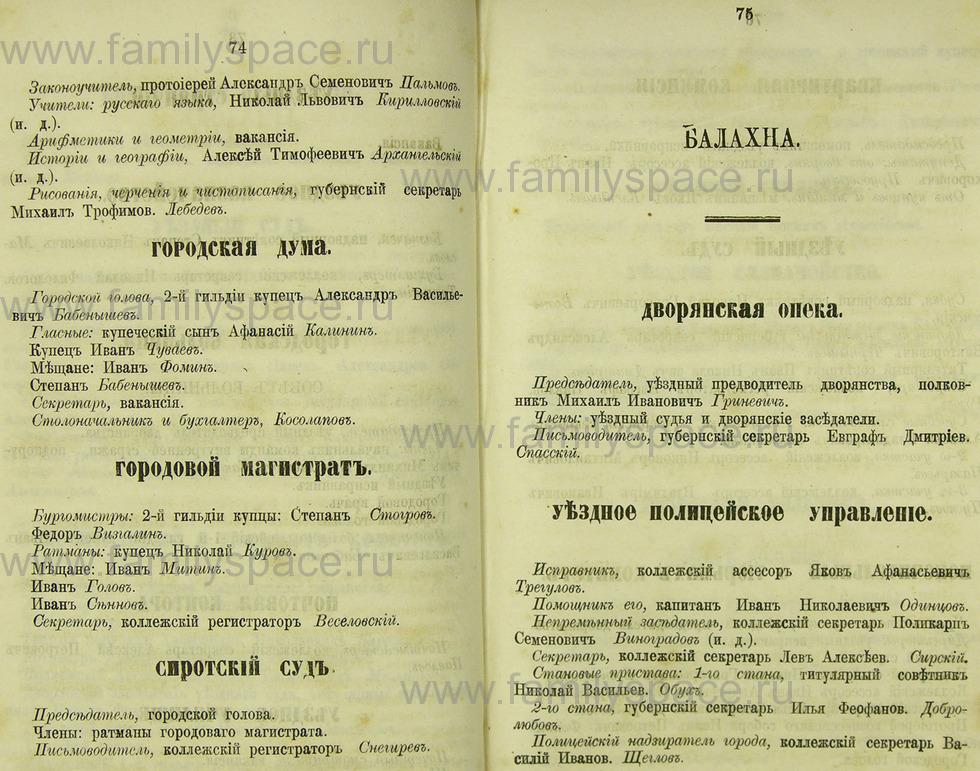Поиск по фамилии - Памятная книжка Нижегородской губернии на 1865 год, страница 2074