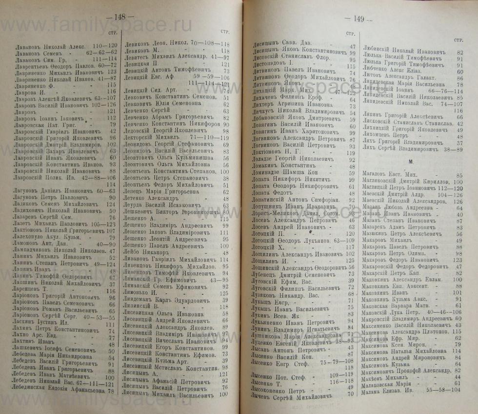 Поиск по фамилии - Кубанский календарь на 1898 год, страница 1148
