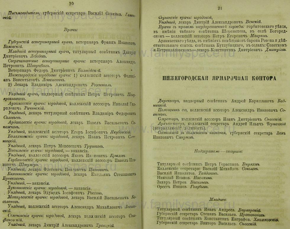 Поиск по фамилии - Памятная книжка Нижегородской губернии на 1865 год, страница 2020