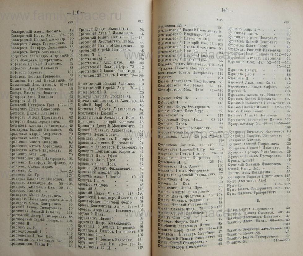 Поиск по фамилии - Кубанский календарь на 1898 год, страница 1146