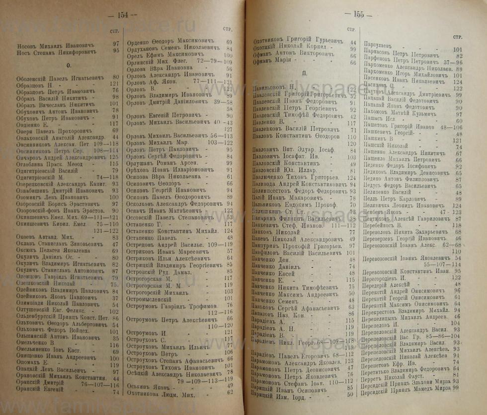 Поиск по фамилии - Кубанский календарь на 1898 год, страница 1154