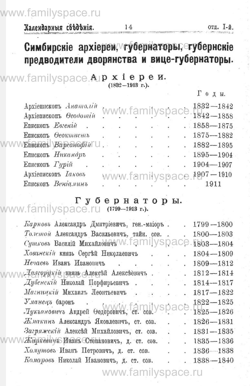 Поиск по фамилии - Справочная книжка и адрес-календарь Симбирской губернии на 1914 год, страница 1014