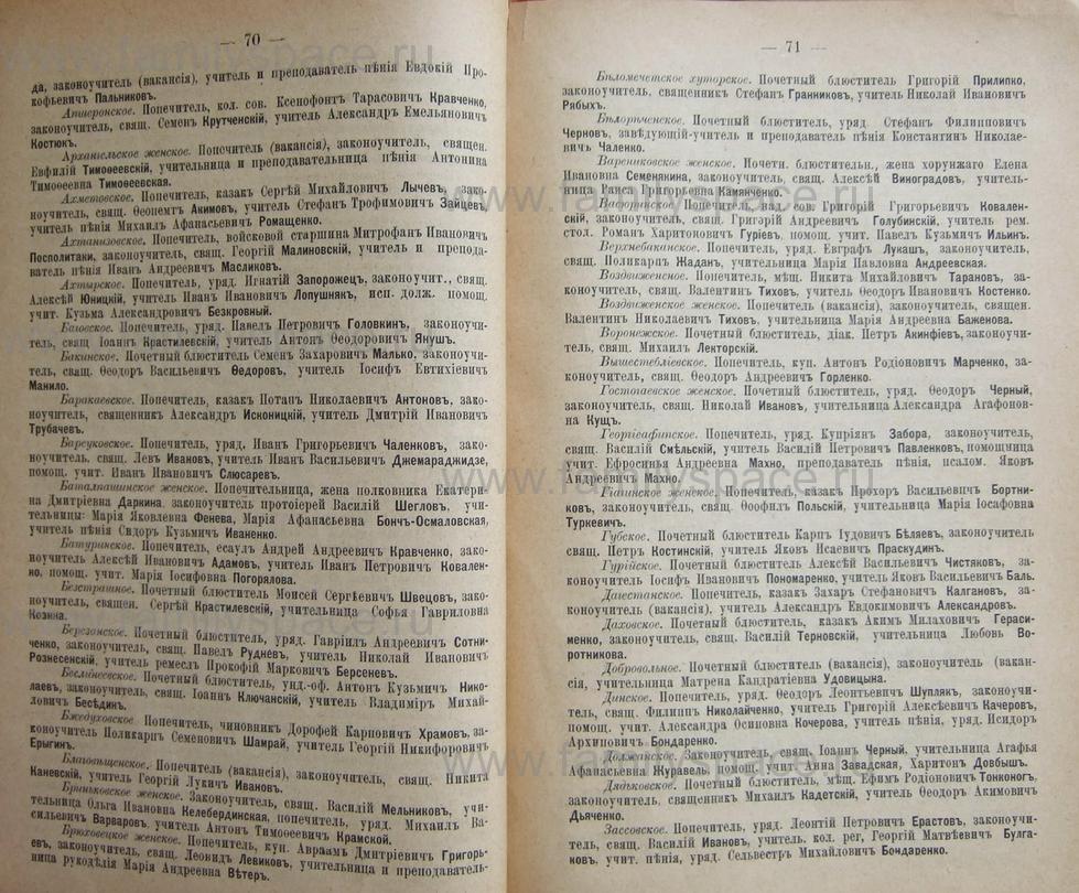 Поиск по фамилии - Кубанский календарь на 1898 год, страница 1070