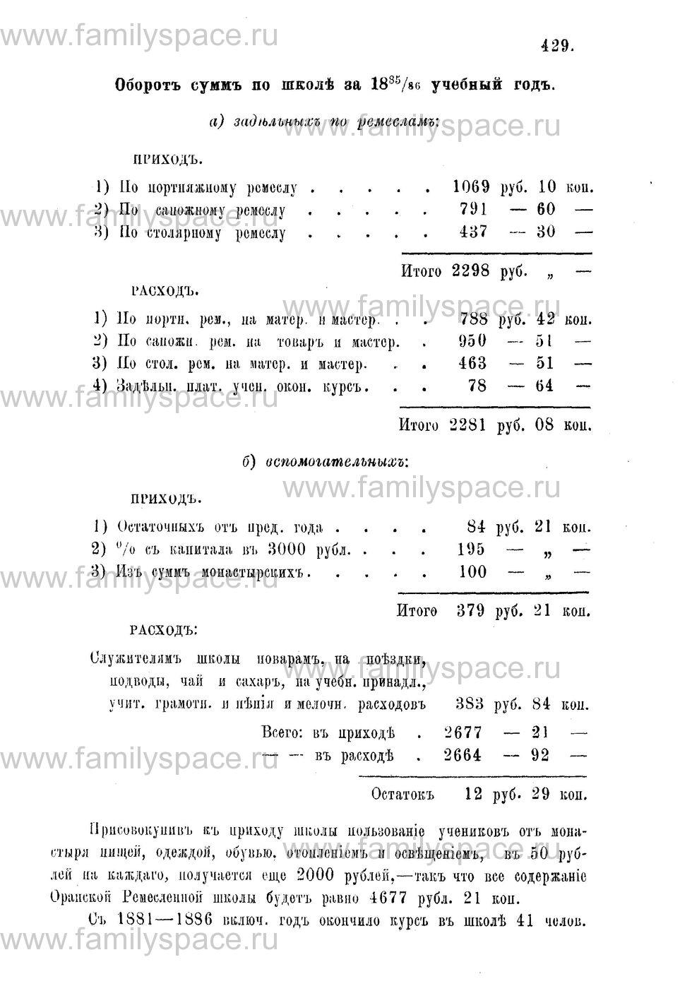 Поиск по фамилии - Адрес-календарь Нижегородской епархии на 1888 год, страница 1429