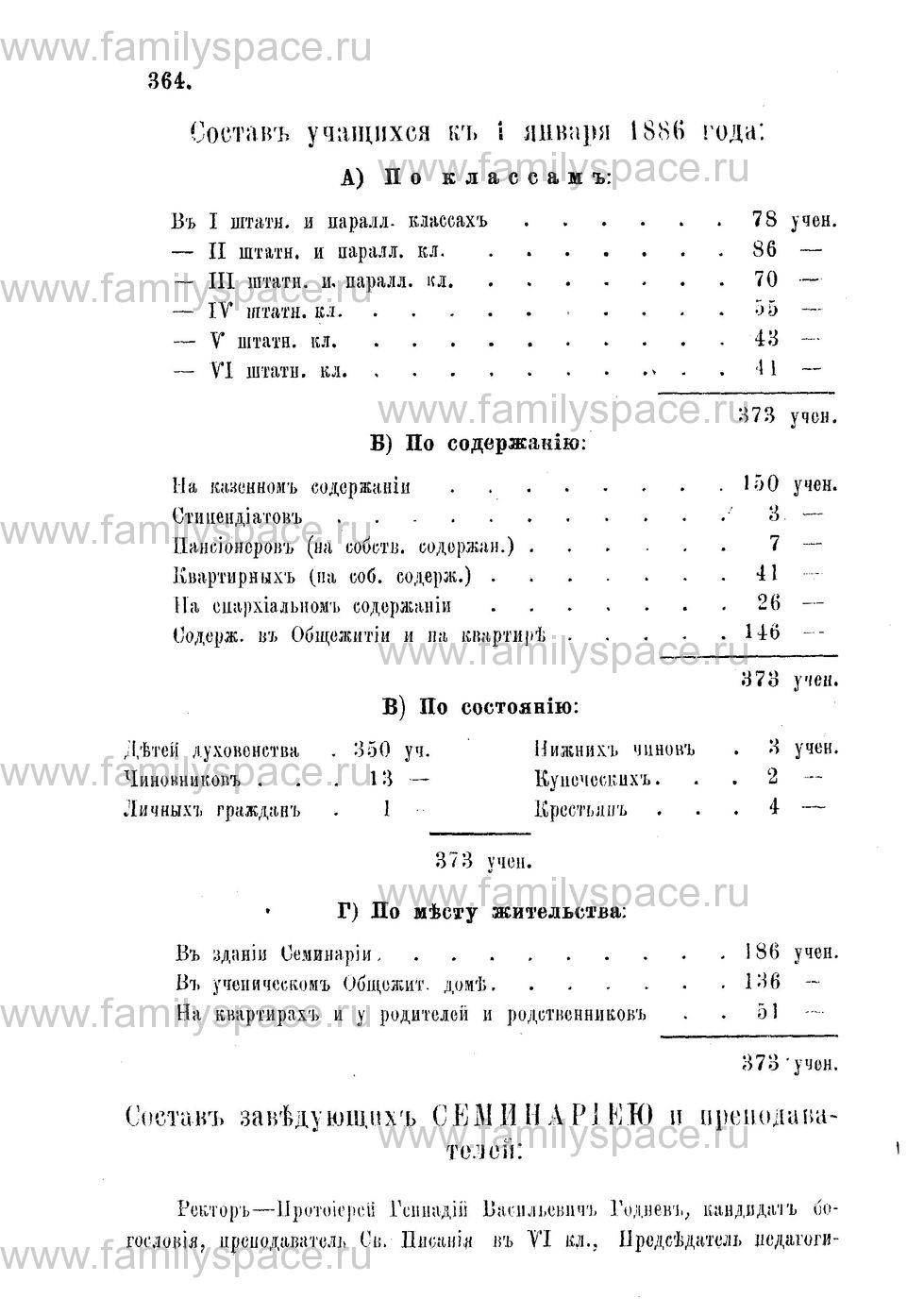 Поиск по фамилии - Адрес-календарь Нижегородской епархии на 1888 год, страница 1364