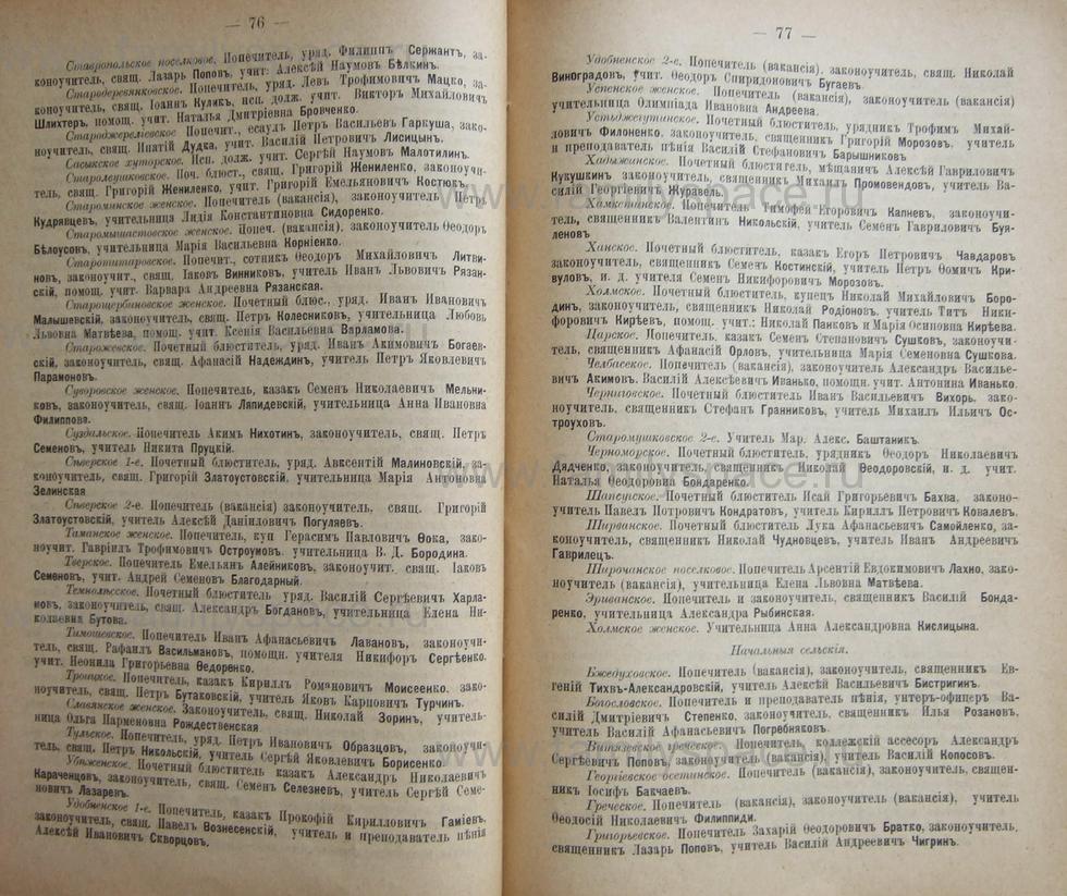 Поиск по фамилии - Кубанский календарь на 1898 год, страница 1076