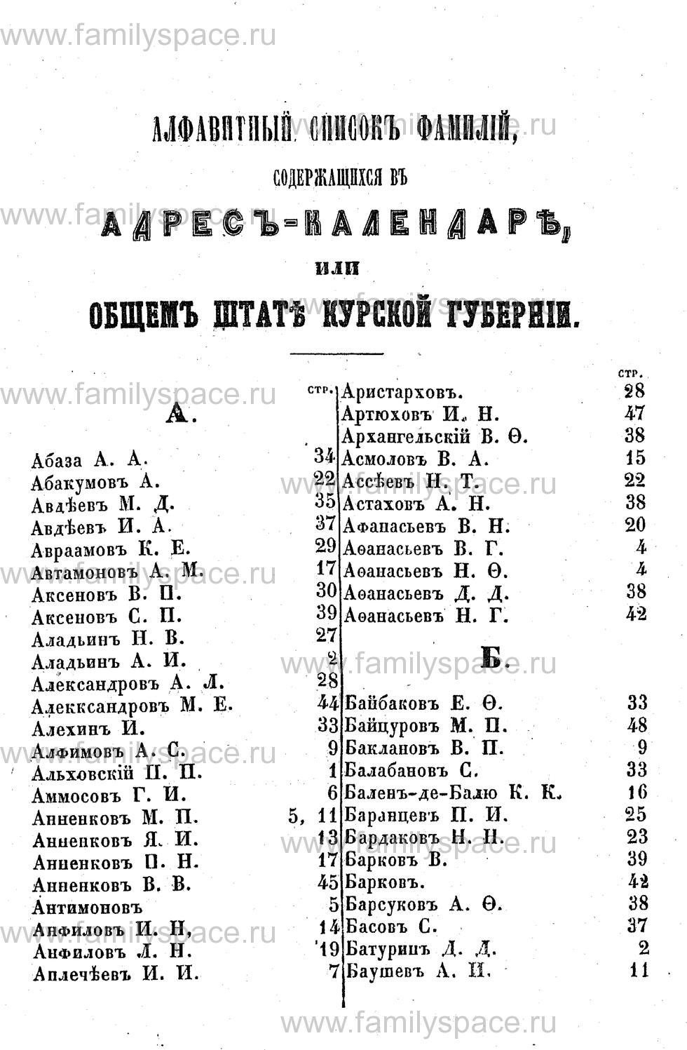 Поиск по фамилии - Адрес-календарь Курской губернии на 1853 год, страница 2001