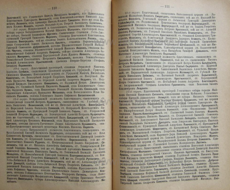 Поиск по фамилии - Кубанский календарь на 1898 год, страница 1110