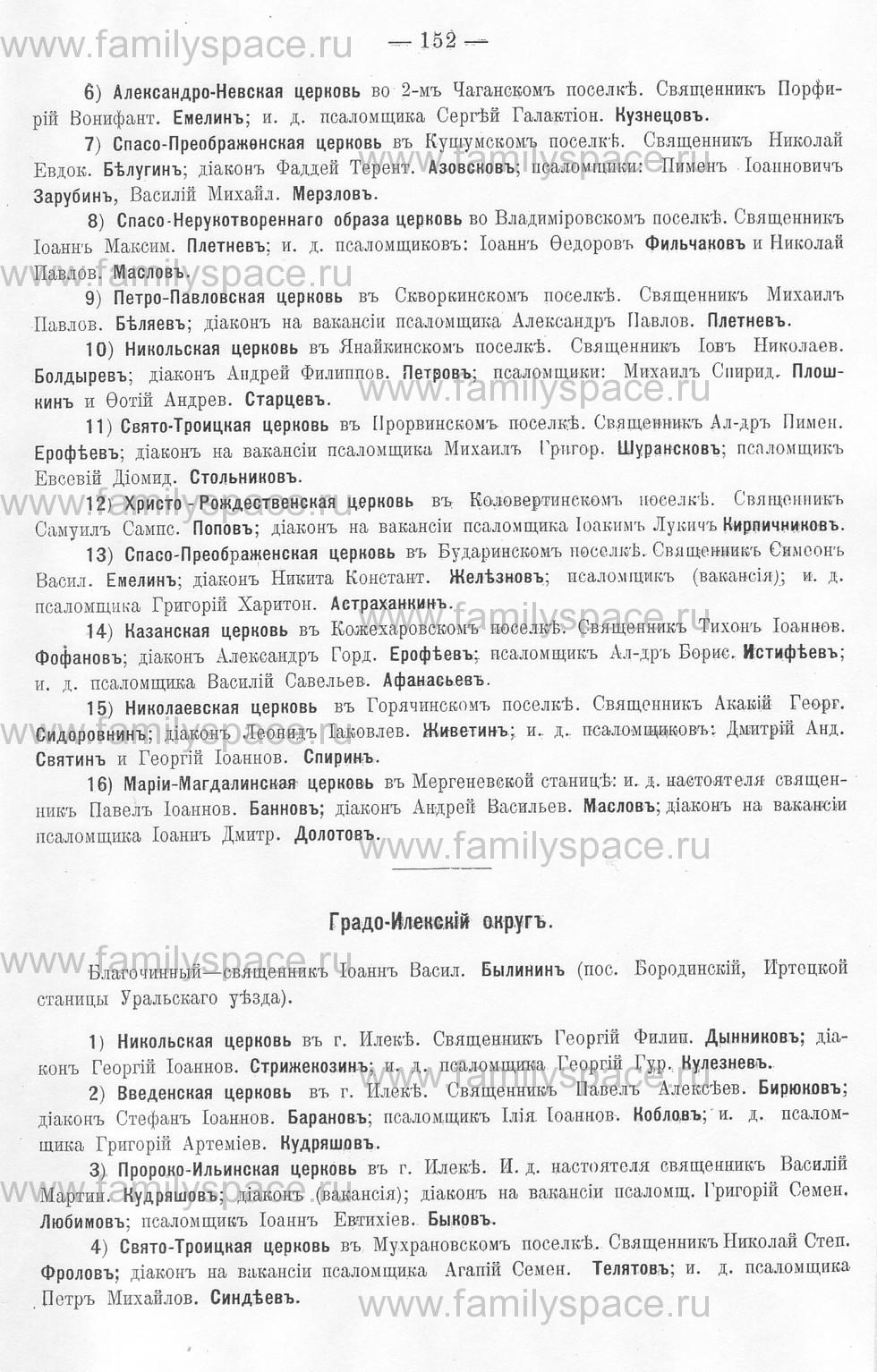 Поиск по фамилии - Памятная книжка Уральской области на 1913 год, страница 152