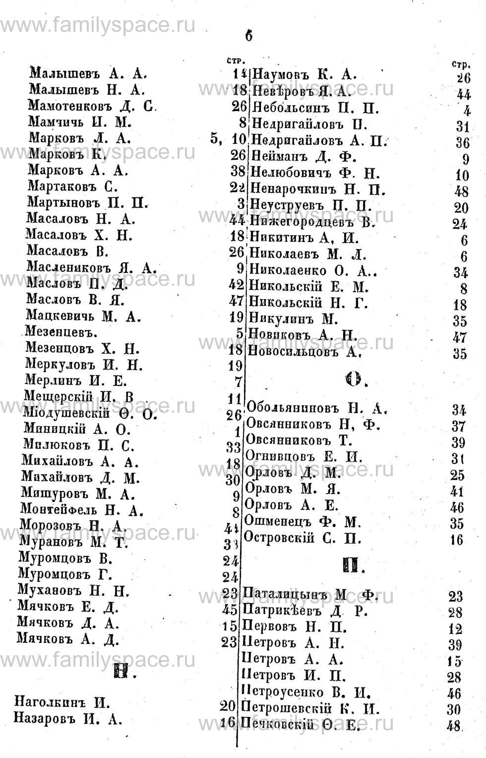 Поиск по фамилии - Адрес-календарь Курской губернии на 1853 год, страница 2006