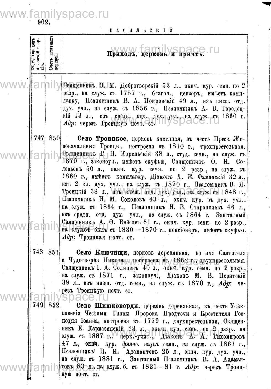 Поиск по фамилии - Адрес-календарь Нижегородской епархии на 1888 год, страница 1902